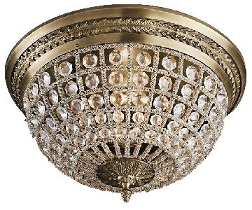 Restoration Hardware Casbath Crystal Flushmount