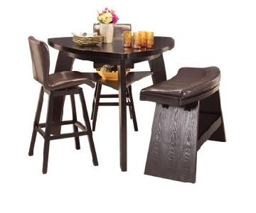 Raymour & Flanigan Hurley Black Counter Height Dining Set