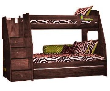 Berg Furniture Twin Over Full Bunk Bed w/ Trundle