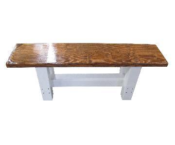Medium Brown Wood Bench