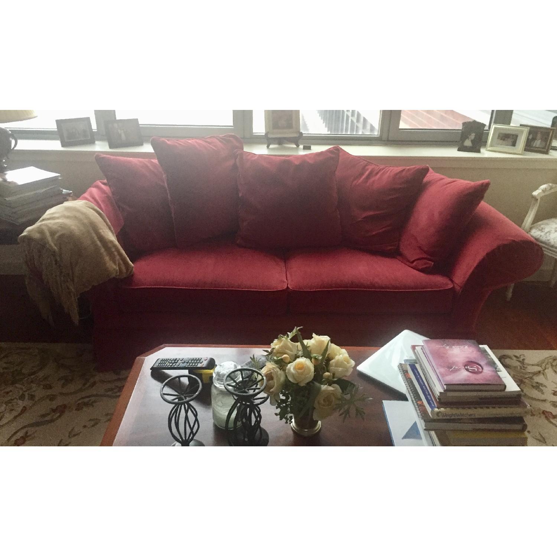 Ethan Allen Burgundy Sofa ...