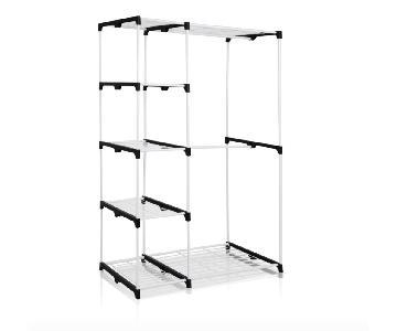 AmazonBasics Double Rod Freestanding Closet in White