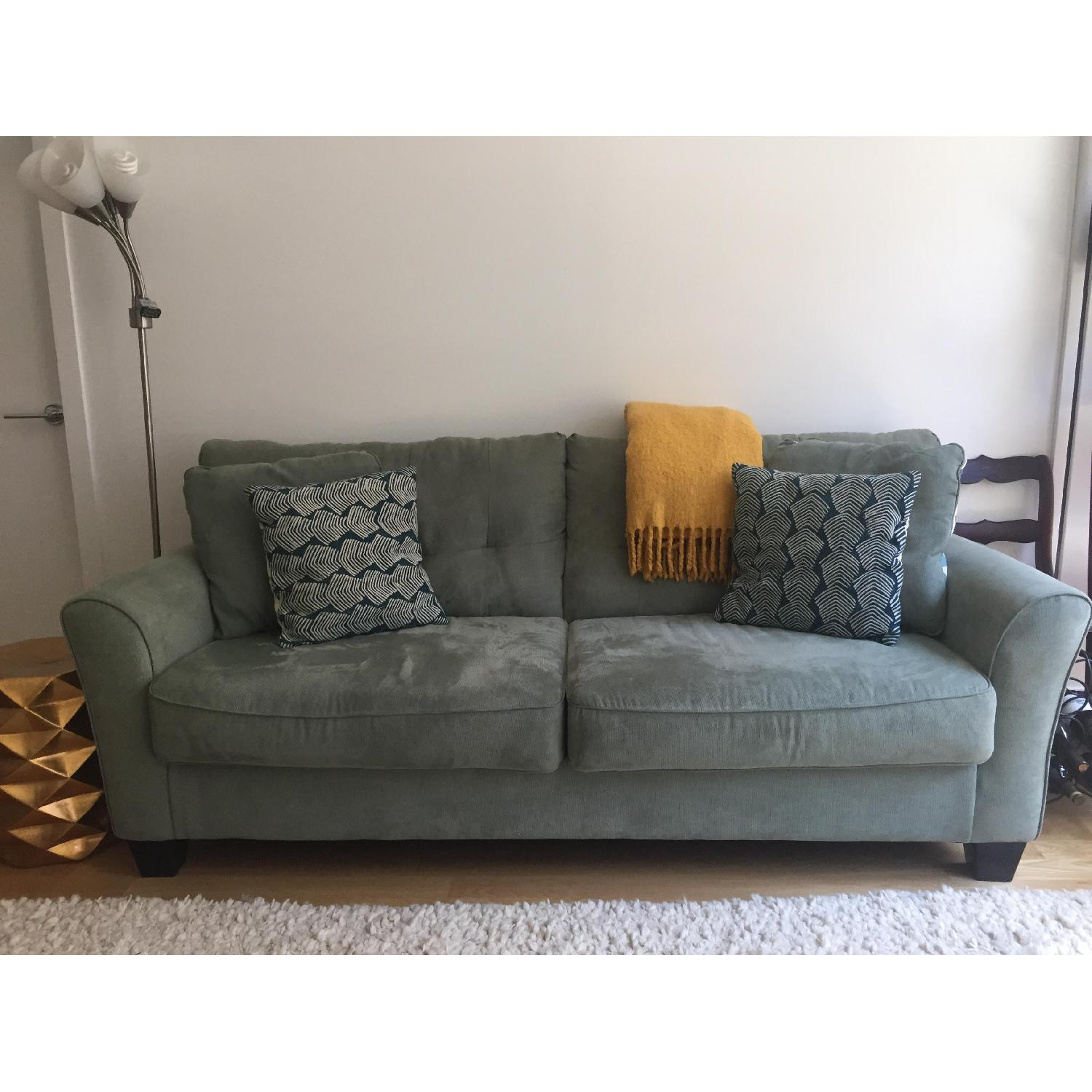 Affordable Ashley Sage Green Sofa With Sofa