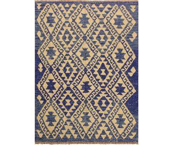 Kilim Arya Tawna Blue/Ivory Wool Rug