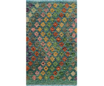Kilim Arya Masako Lt. Blue/Gold Wool Rug (2'8 x 3'11)