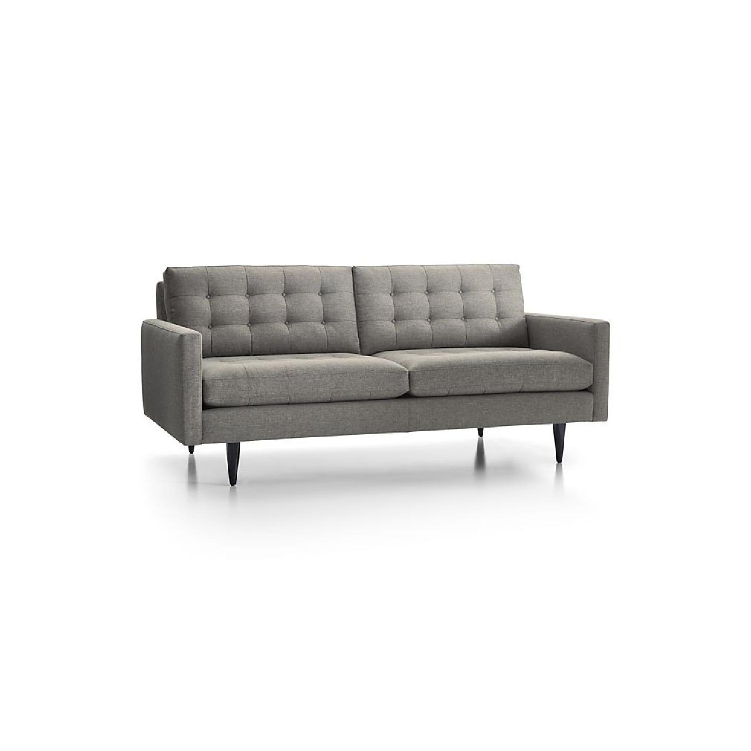 Crate U0026 Barrel Petrie Mid Century Apartment Sofa In Grey ...