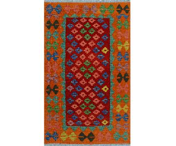 Kilim Arya Pricilla Orange/Red Wool Rug