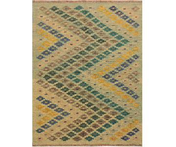 Kilim Arya Brittny Lime Green/Blue Wool Rug
