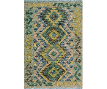 Kilim Arya Audra Gray/Blue Wool Rug