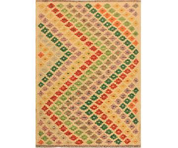 Kilim Arya Loree Ivory/Red Wool Rug