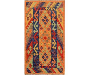 Kilim Arya Laurette Orange/Blue Wool Rug