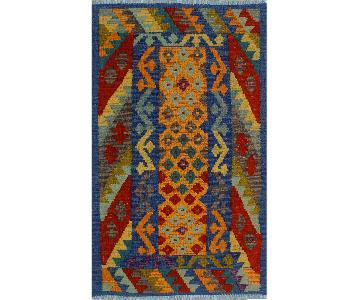 Kilim Arya Loretta Blue/Red Wool Rug