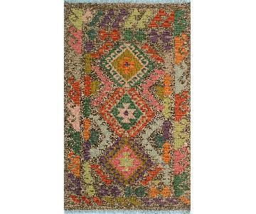 Kilim Arya Ray Gray/Green Wool Rug
