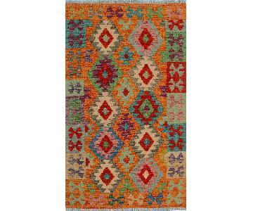 Kilim Arya Trisha Orange/Pink Wool Rug