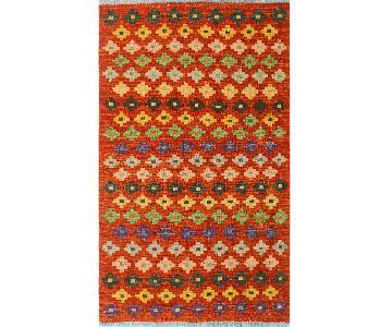 Kilim Arya Ginny Rust/Blue Wool Rug