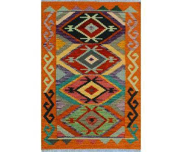 Kilim Arya Jeannine Orange/Blue Wool Rug