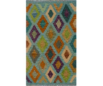 Kilim Arya Celia Lt. Blue/Ivory Wool Rug