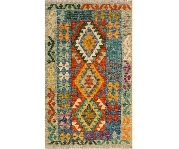 Kilim Arya Luisa Blue/Green Wool Rug