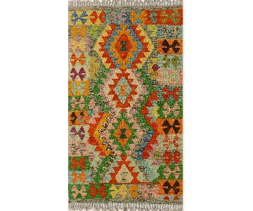 Kilim Arya Rachel Gray/Green Wool Rug
