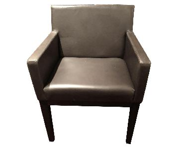 Restoration Hardware Morgan Track Arm Leather Armchairs