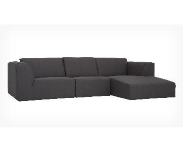 EQ3 Morten 3-Piece Sectional Sofa w/ Chaise