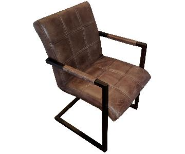 Leather & Metal Chair