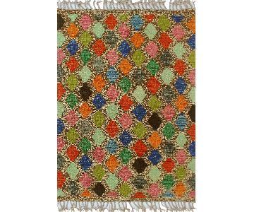 Kilim Arya Alene Gray/Red Wool Rug