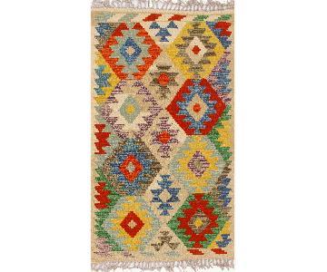 Kilim Arya Tanya Ivory/Gold Wool Rug