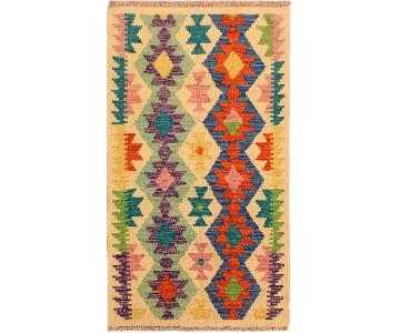 Kilim Arya Shelli Ivory/Blue Wool Rug