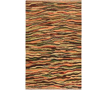 Kilim Arya Madie Red/Blue Wool Rug