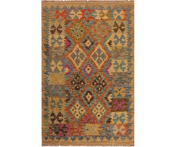 Kilim Arya Ona Blue/Purple Wool Rug