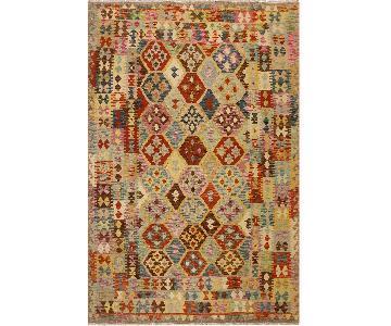Kilim Arya Giovanna Gray/Rust Wool Rug