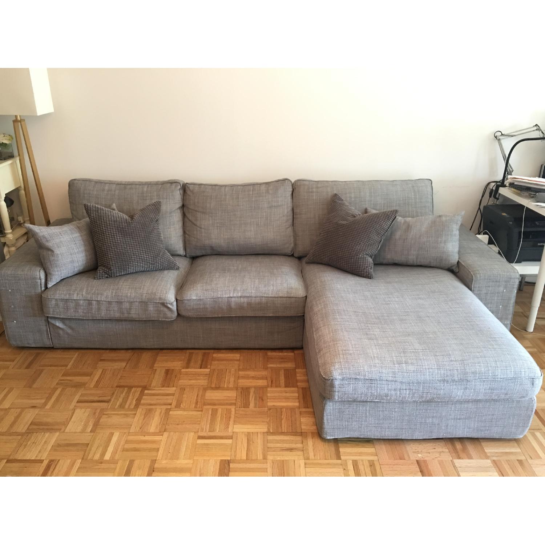 ... Ikea Kivik 3 Piece Sectional Sofa In Grey 0 ...