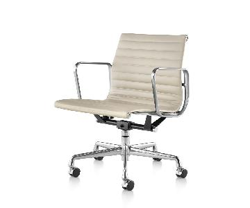 Herman Miller Eames Cream Leather Office Chair