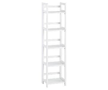 Container Store White Wood Folding Tower