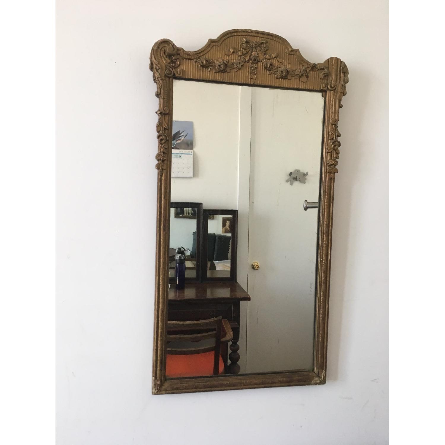 Antique Gold Framed Wall Mirror-0