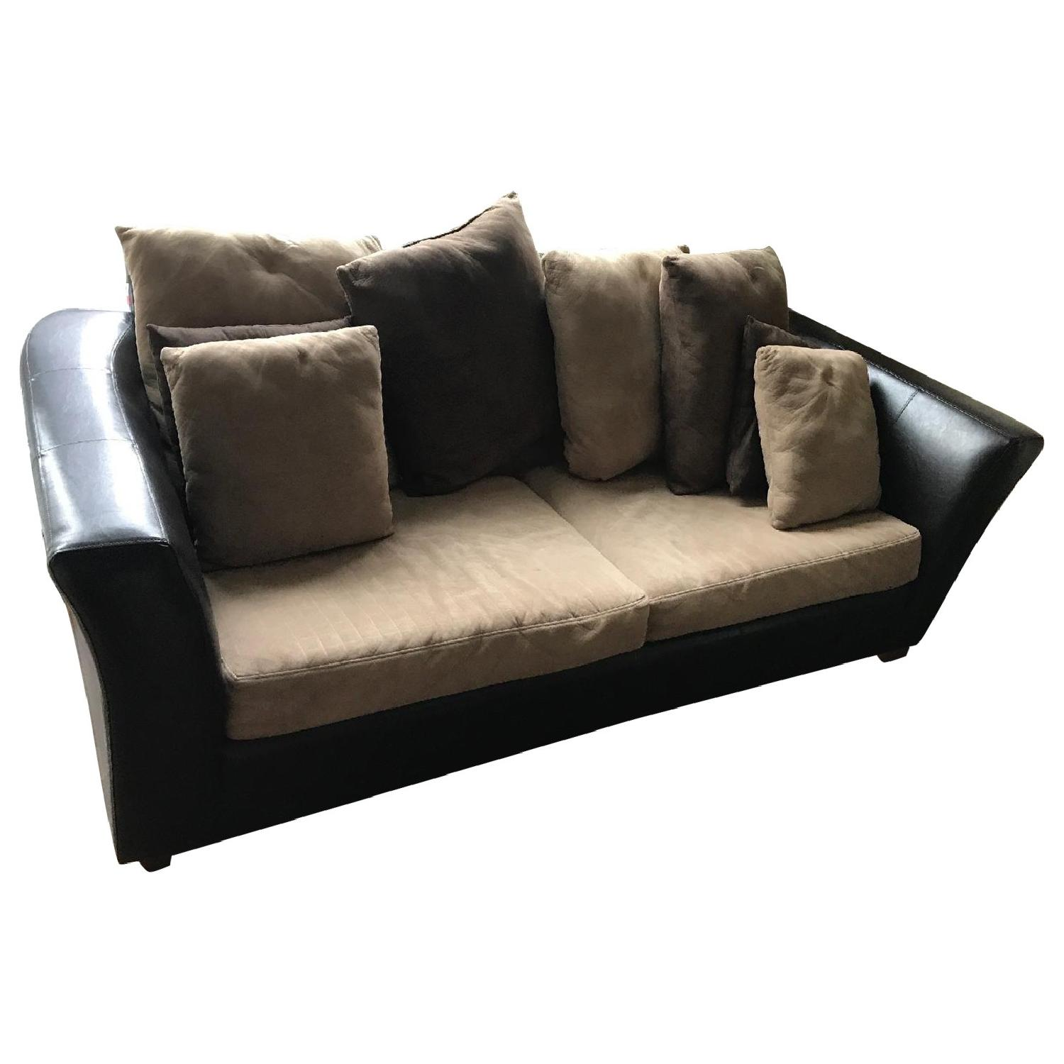 sofa photos sourceimage design with sleeper queen sofablack living dorel faux mainstays staggering black leather