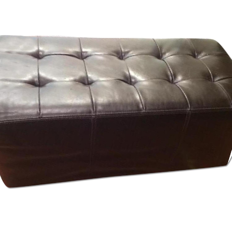 Leather Ottoman - image-0