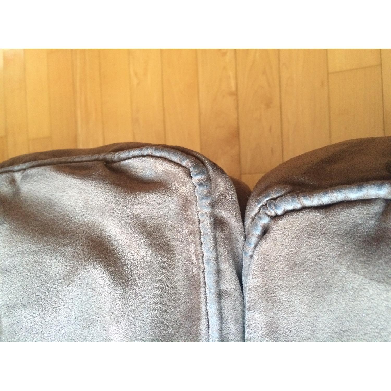 Crate & Barrel Suede Sofa - image-4