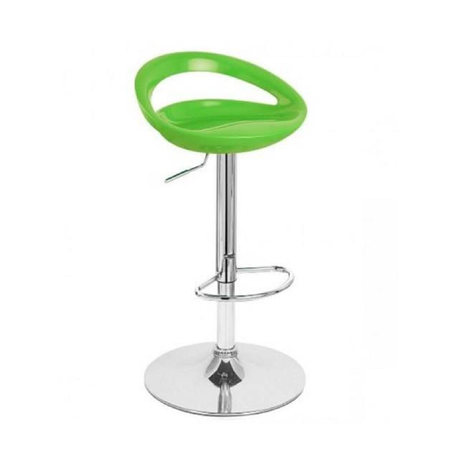 Adjustable Barstools in Lime Green - Pair - image-0