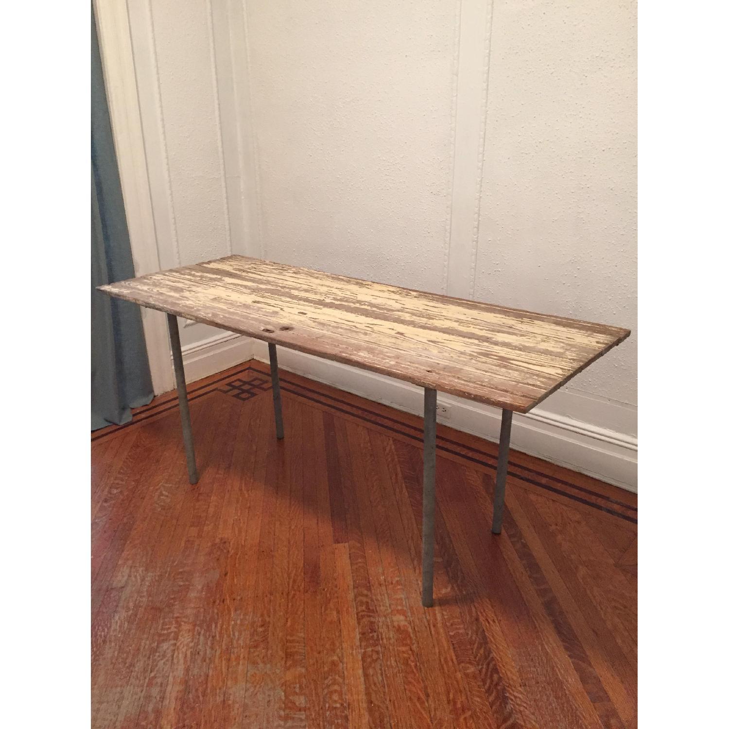 Industrial Distressed Farm Door Dining Table - image-3