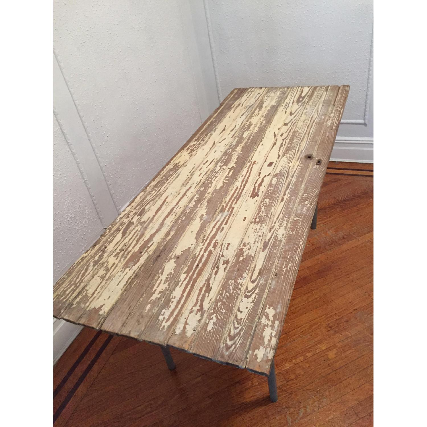 Industrial Distressed Farm Door Dining Table - image-4