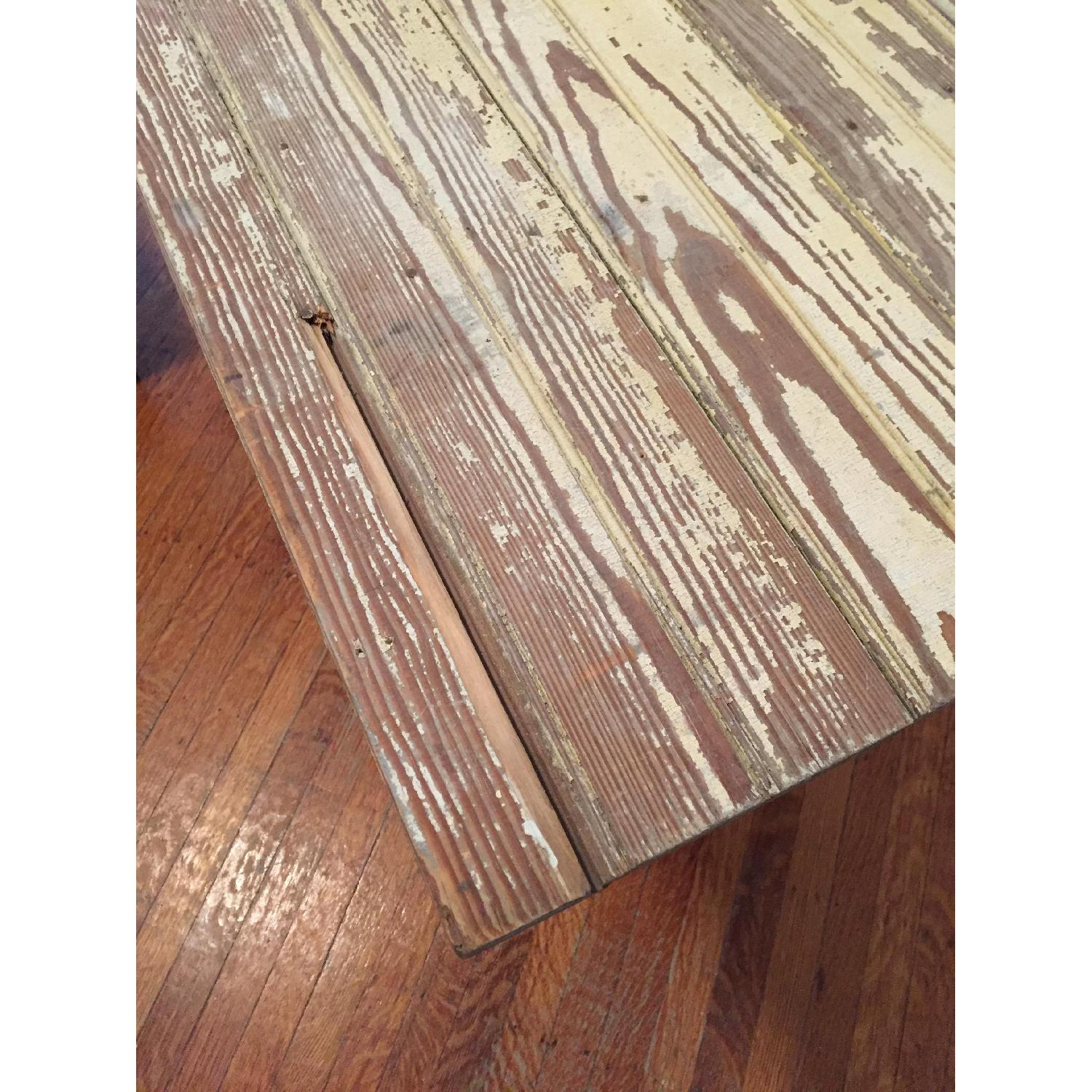 Industrial Distressed Farm Door Dining Table - image-5