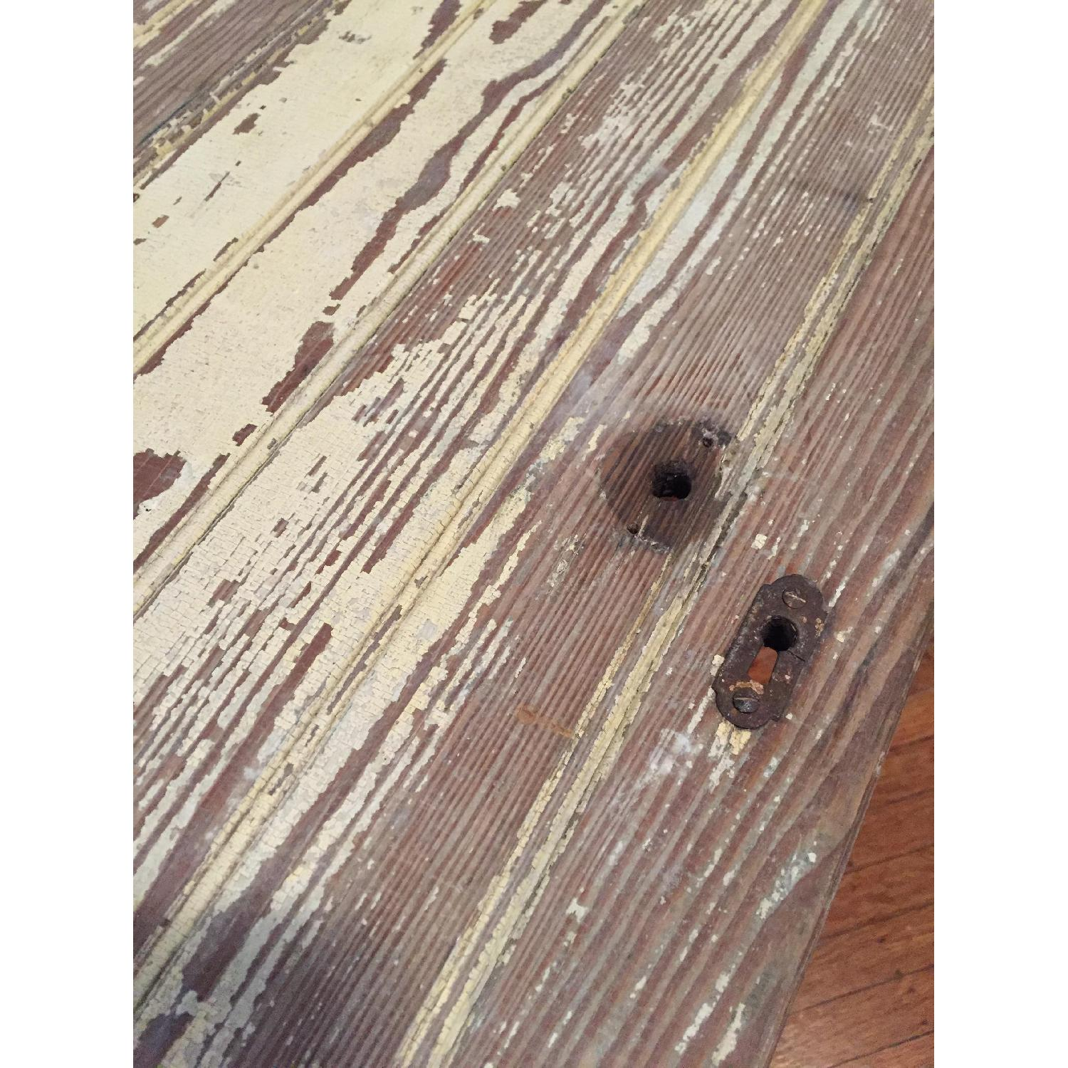 Industrial Distressed Farm Door Dining Table - image-6