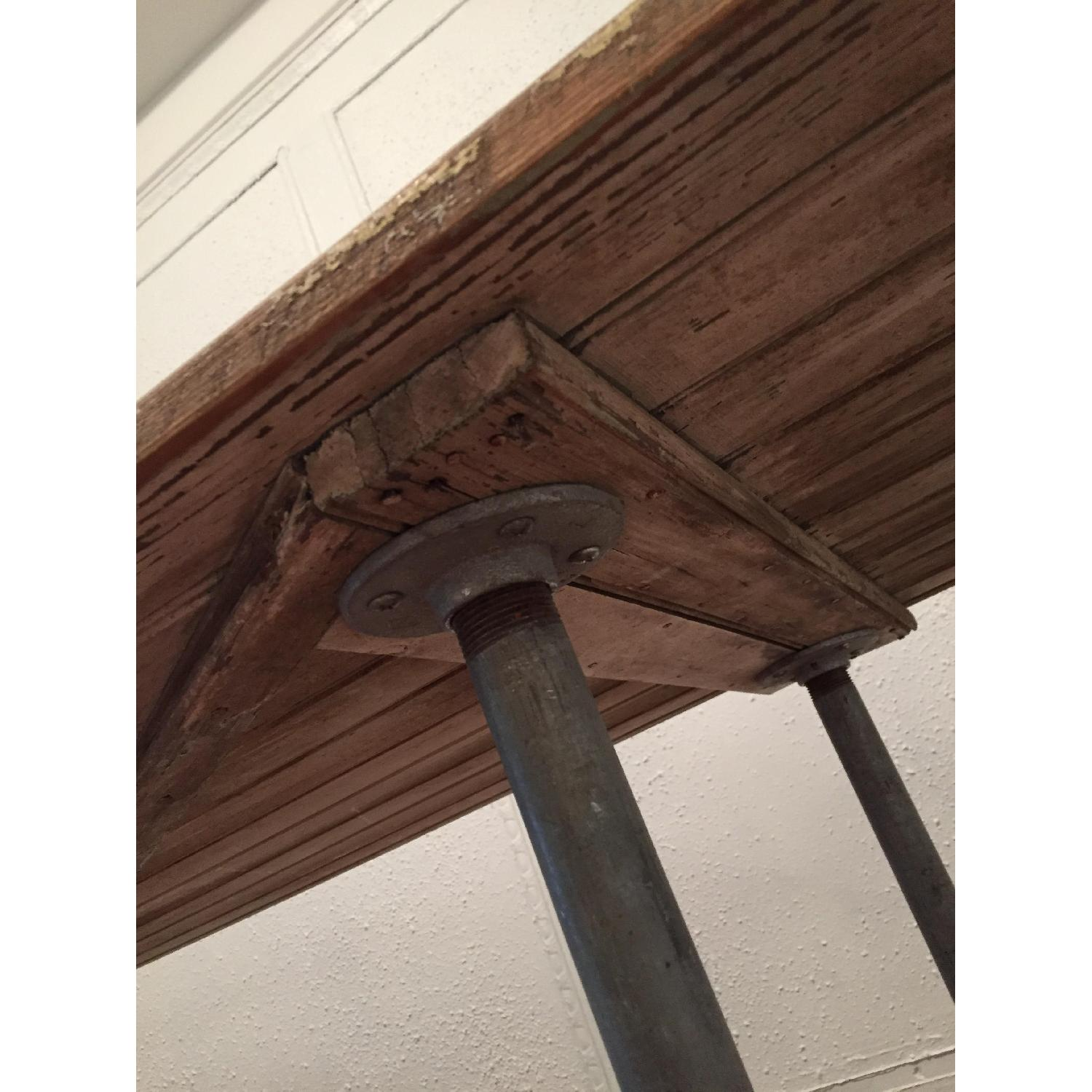 Industrial Distressed Farm Door Dining Table - image-7