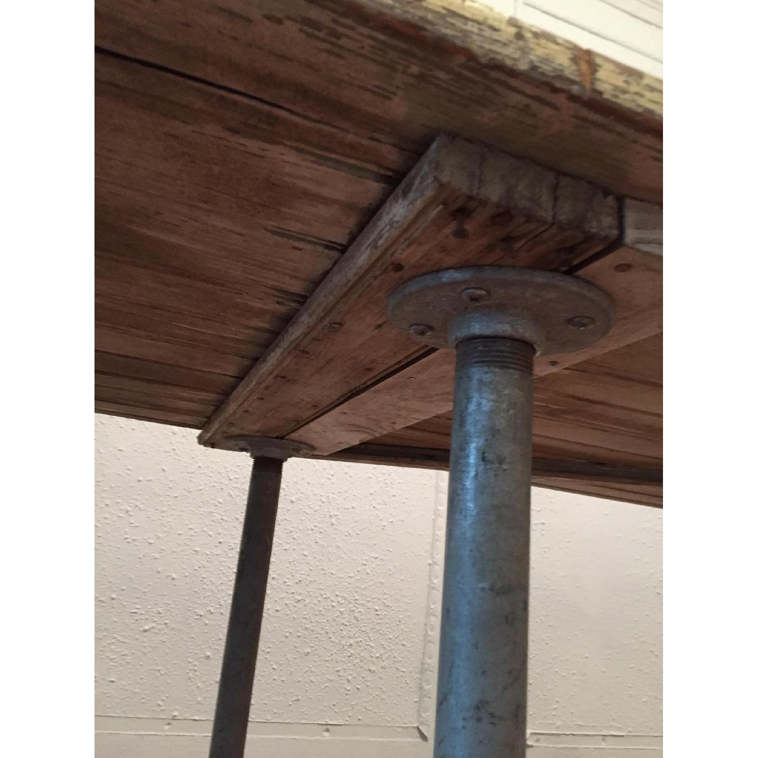 Industrial Distressed Farm Door Dining Table - image-8