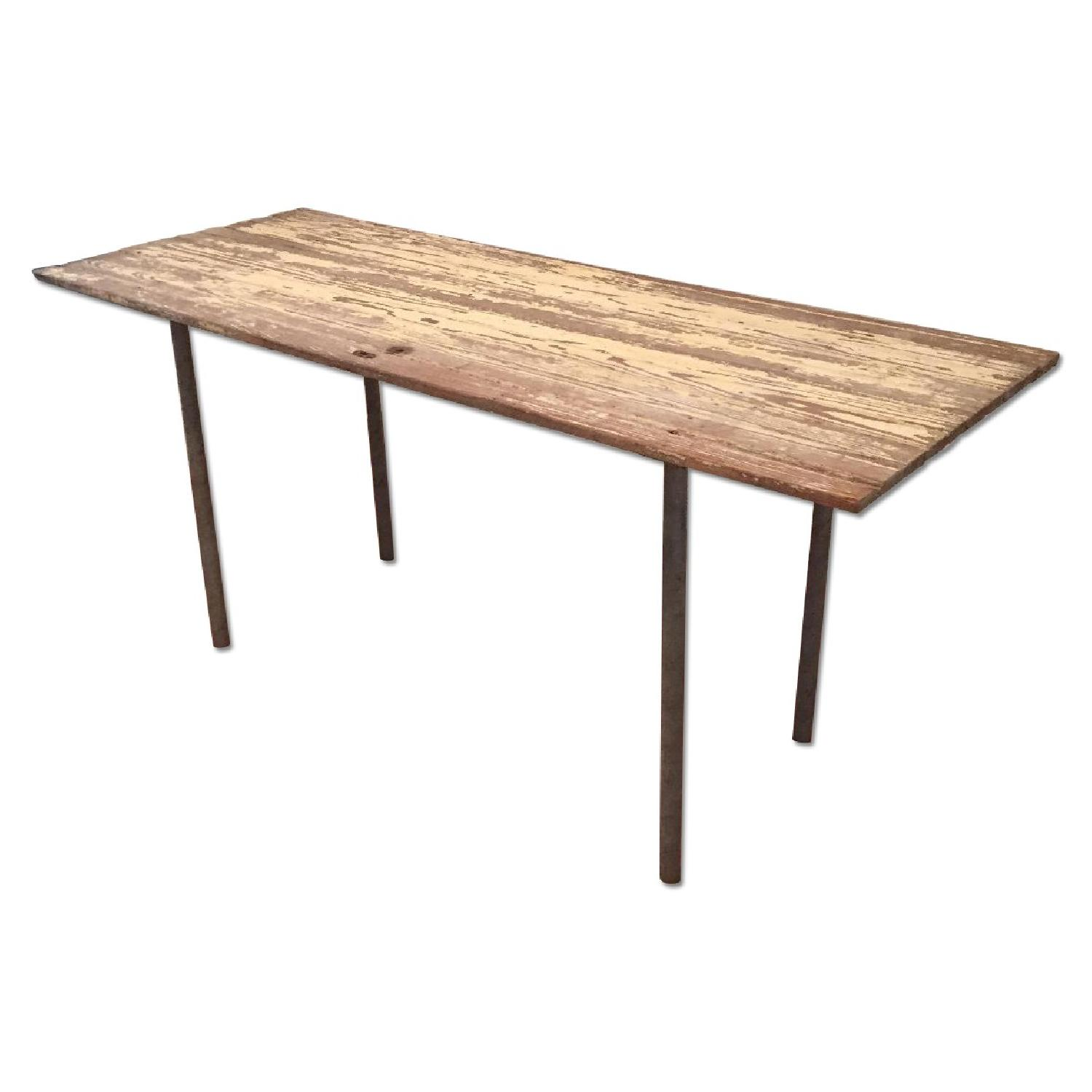Industrial Distressed Farm Door Dining Table - image-0