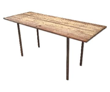 Industrial Distressed Farm Door Dining Table