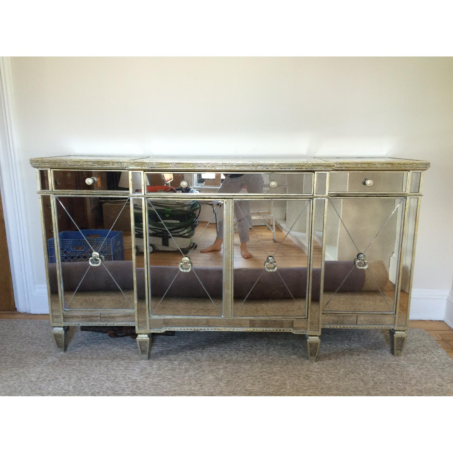 Horchow Mirrored Console - image-1