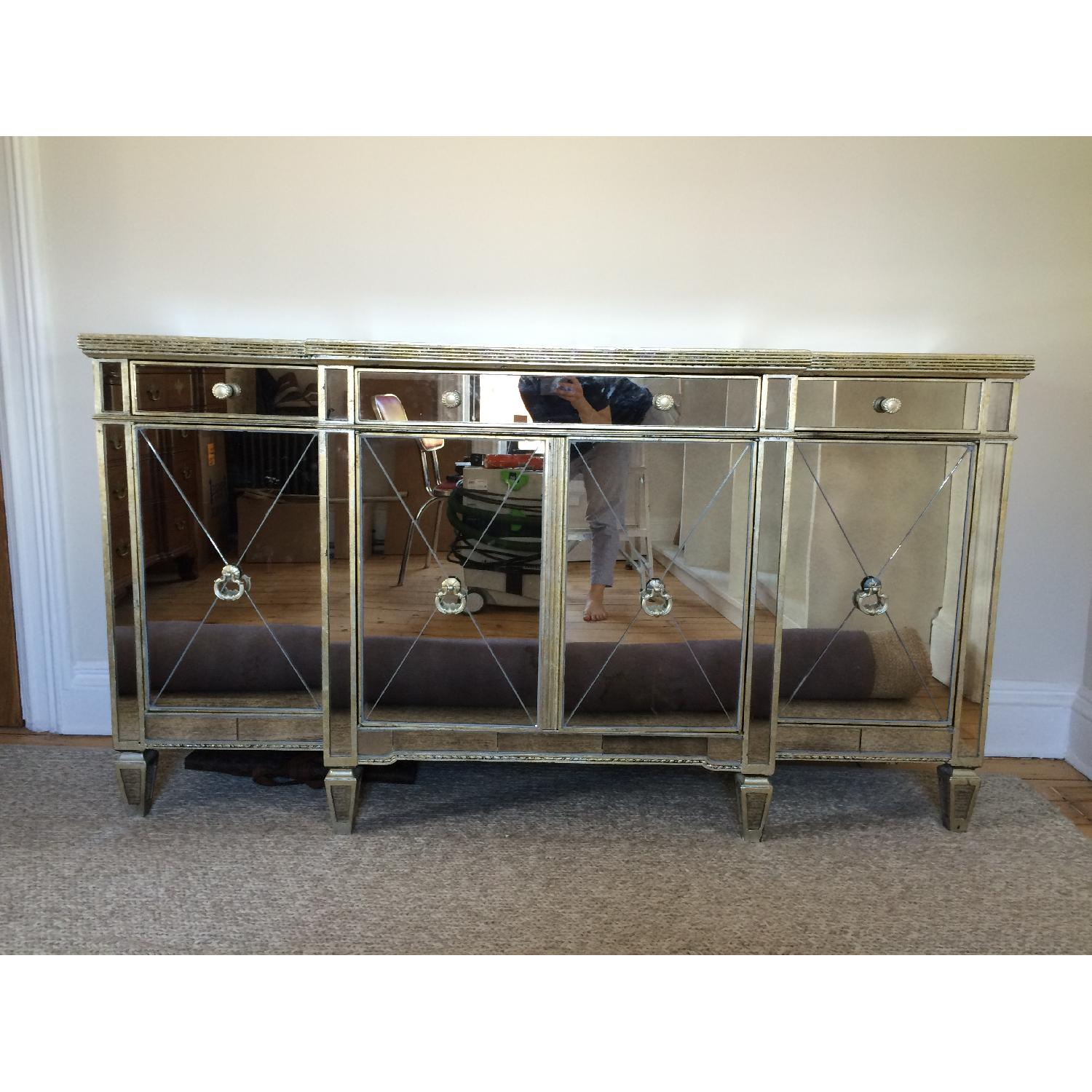 Horchow Mirrored Console - image-2